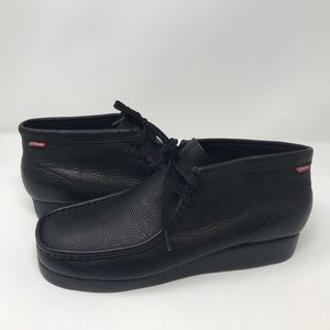 Clarks Padmore Black Leather Boots 11M Style 79161